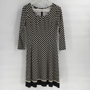 NWOT Talbots Black and White Dress Small